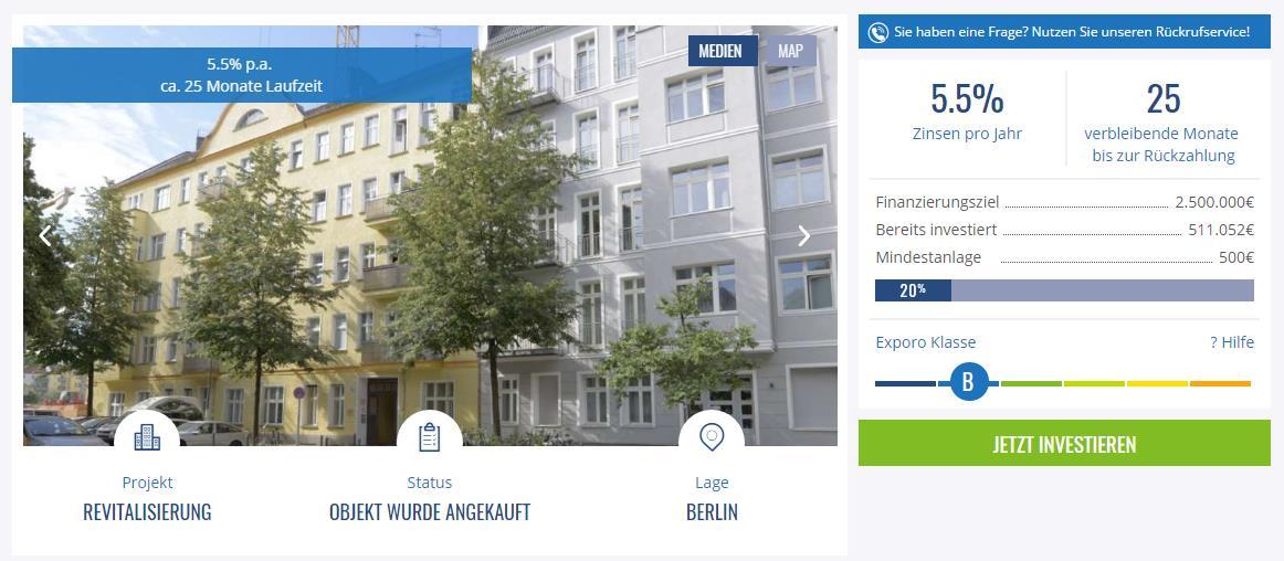 exporo investieren in immobilien