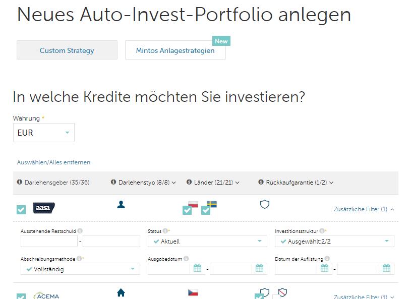 05 Mintos Auto-Invest-Portfolio anlegen