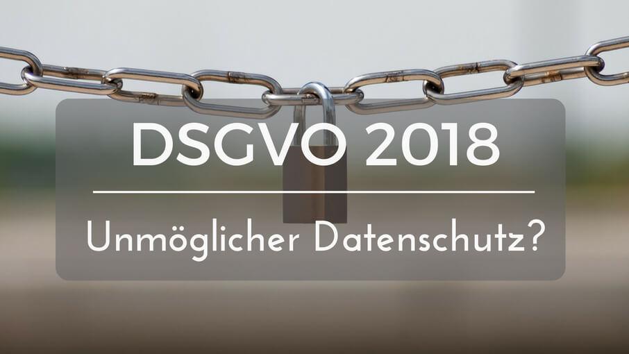 DSGVO Datenschutz Grundverordnung