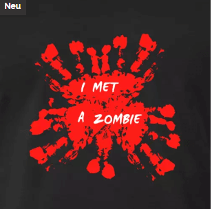 T-Shirt Zombi Blut Horror