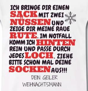 T-Shirt versaute Weihnachten