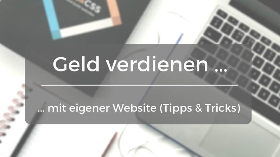 Mit Eigener Website Geld Verdienen