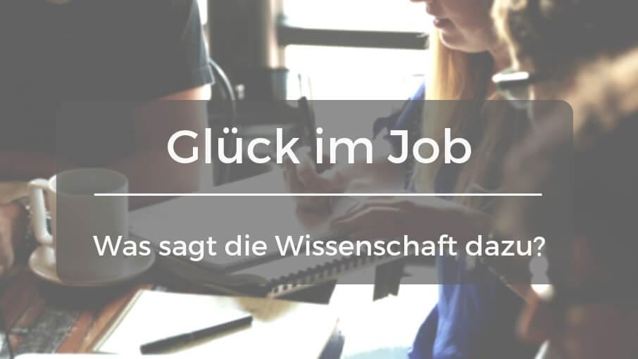 Glück im Job