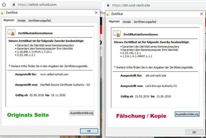 wordpress seite gehackt und kopiert ssl