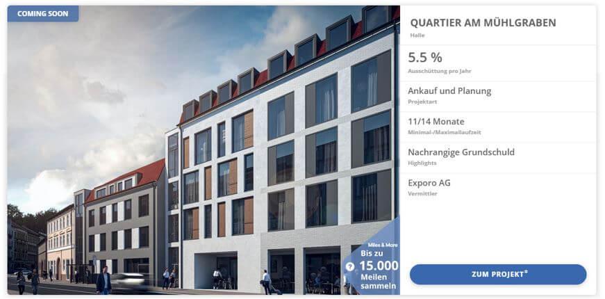 Per Mausklick in Immobilien Investieren mit Exporo